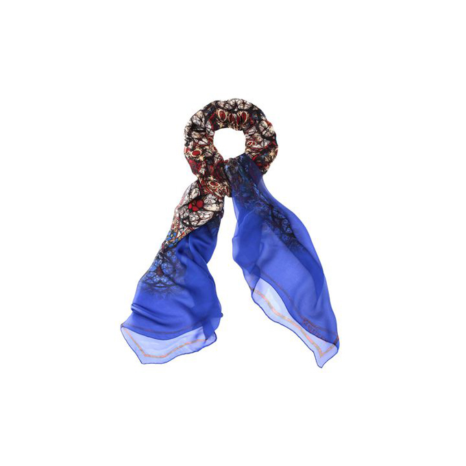 ALEXANDER MCQUEEN CIRCULAR SCARF STAINED GLASS